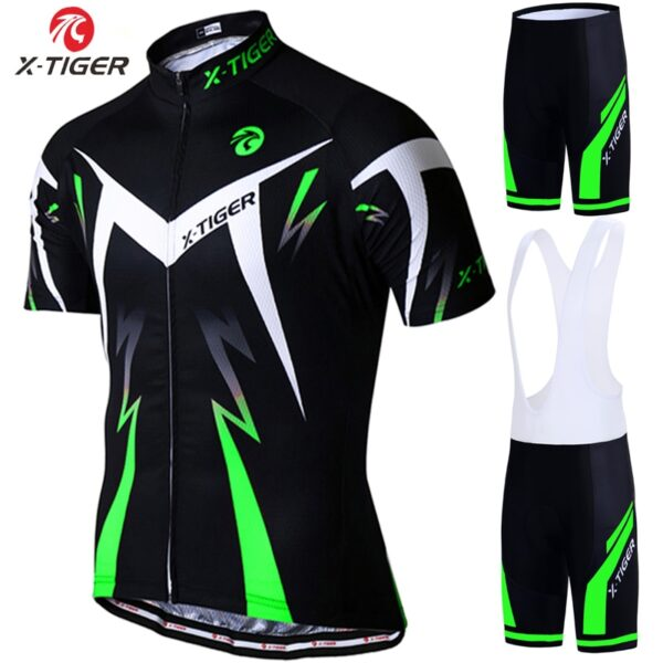 X-Tiger Pro Cycling Jersey Set Summer Cycling Wear Mountain Bike Clothes Bicycle Clothing MTB Bike Cycling Clothing Cycling Suit