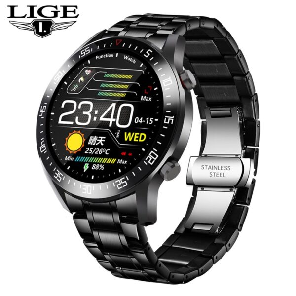 LIGE 2020 fashion Full circle touch screen Mens Smart Watches IP68 Waterproof Sports Fitness Watch Luxury Smart Watch for men