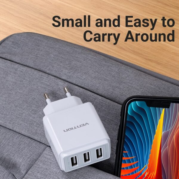 Vention 5V 3.4A USB Charger for iphone 11Pro 8 7 Fast Mobile Phone Charger for Huawei Mate 30 Samsung Xiaomi EU Wall USB Charger
