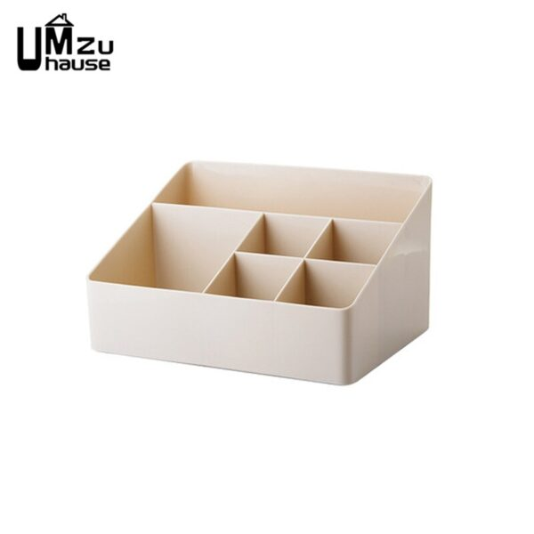 Cosmetics Organizer Desk Storage Boxes Solid Table Home Office Organization Plastic Case Makeup Jewelry Container Drawer Divider
