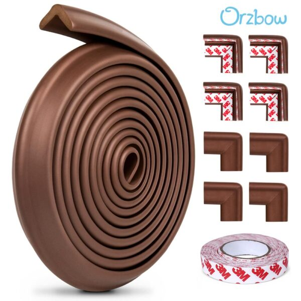 Orzbow 5M Baby Safety Corner Protectors Home Protection For Children Baby Proofing Edge Corner Cushion For Kids Furniture Bumper