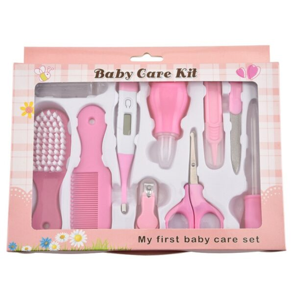 13PCS Baby Nail Trimmer Care Kit Infant Nail Clipper Scissors Comb Health Care Nursing Tool Kids Thermometer Clipper for Newborn