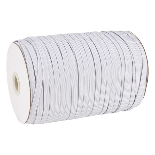 1 Roll Flat Elastic Cord White Black for Clothing Sewing Craft DIY Handmade Mask 4mm 5mm 6mm 8mm 10mm 12mm 14mm
