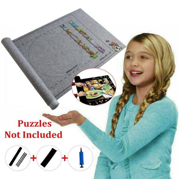 Professional Jigsaw Blanket Puzzles Roll Mat Felt Storage Mat Up To 1500/2000 PCs Puzzle Accessories Portable Travel Storage Bag