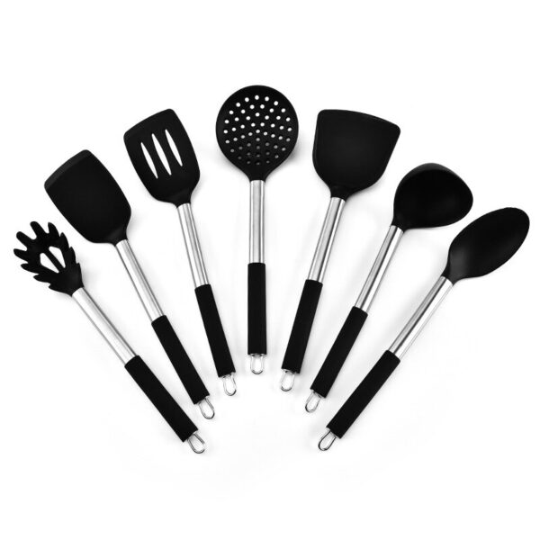 Stainless Steel Handle Silica Gel Kitchenware 7 Pieces Kitchen Tools Cooking Gadgets Kitchen Accessories Cooking Tools