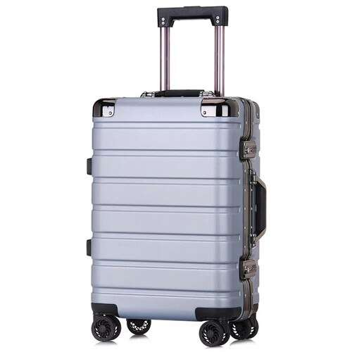"""KLQDZMS 20""""24inch high quality aluminum frame trolley suitcase travel carry on rolling luggage spinner on wheels boarding case"""