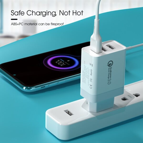 Vothoon 30W 3 Ports Quick Charger 3.0 USB Charger For iPhone Samsung Xiaomi Mobile Phone Charger Fast Wall Charger Adapter