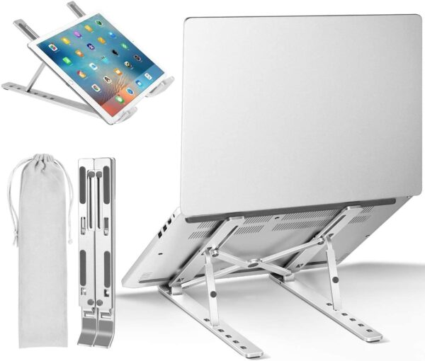 Portable Laptop Stand Aluminium Foldable Macbook Pro Support Adjustable Notebook Holder Tablet Base For PC Computer Accessories