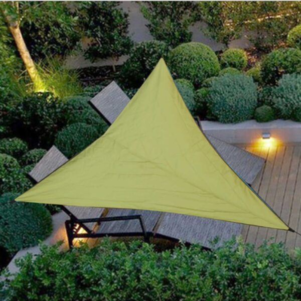 Waterproof Anti-UV Awning Triangle Sun Shelter Patio Canopy Garden Sun Shade Outdoor Sun Shelter for Garden Camping Pool Tents
