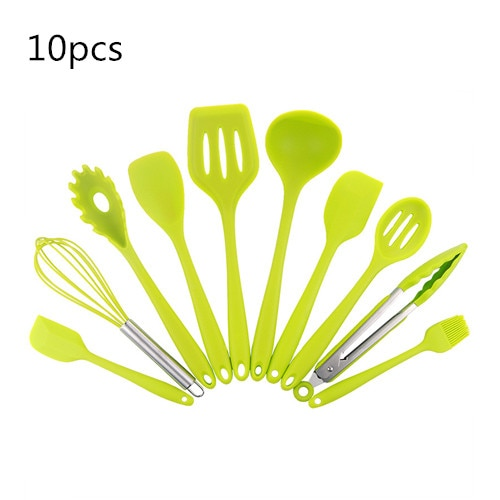 Silicone Kitchen Utensils Set Non-stick Kitchenware Cooking Tools Spoon Spatula Ladle Egg Beaters Tools Gadget Accessories