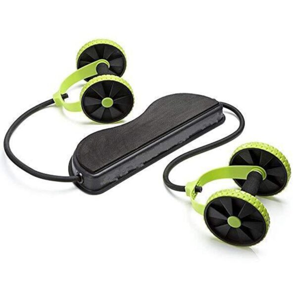 Abdominal Muscle Trainer Exercise Home Fitness Equipment AB Wheels Roller Stretch Elastic Abdominal Resistance Pull Rope Tool