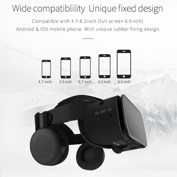 BOBO VR Z6 Wireless Bluetooth 3D Glasses Virtual Reality for Smartphone Immersive Stereo VR Headset Cardboard For iPhone Android