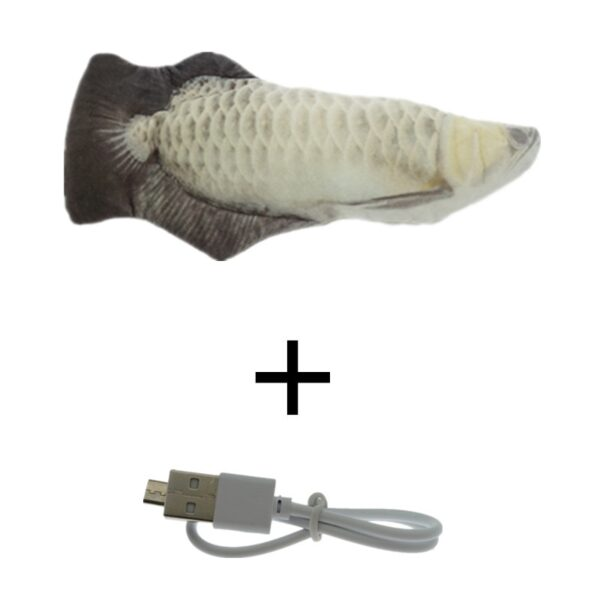 30CM Pet Cat Toy USB Charging Simulation Electric Dancing Moving Floppy Fish Cats Toy For Cat Toys Interactive Dog Dropshipping