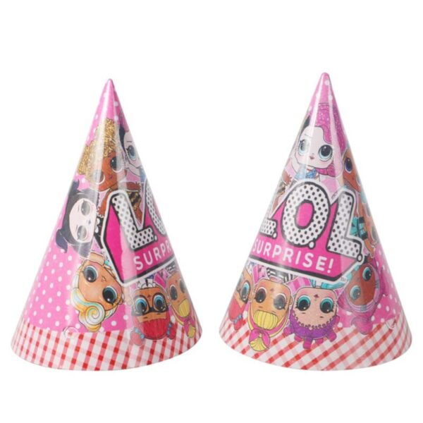 Birthday Party LOL dolls surprise DIY theme Decoration Supplies Holiday Plate Spoon wedding cake topper Kids Gifts