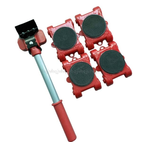 Furniture Mover Tool Transport Lifter Heavy Stuffs Moving 4 Wheeled Roller with 1 Bar Set D23 19 Dropship