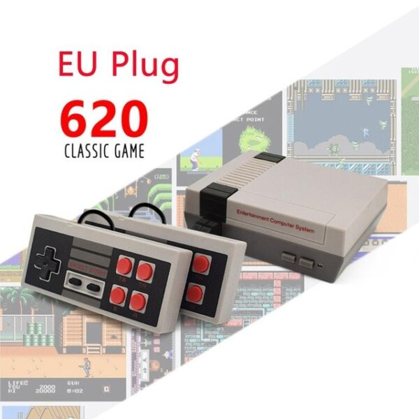 2020 Built-In 620 Games Mini TV Game Console 8 Bit Retro Classic Handheld Gaming Player AV Output Video Game Console Two Players