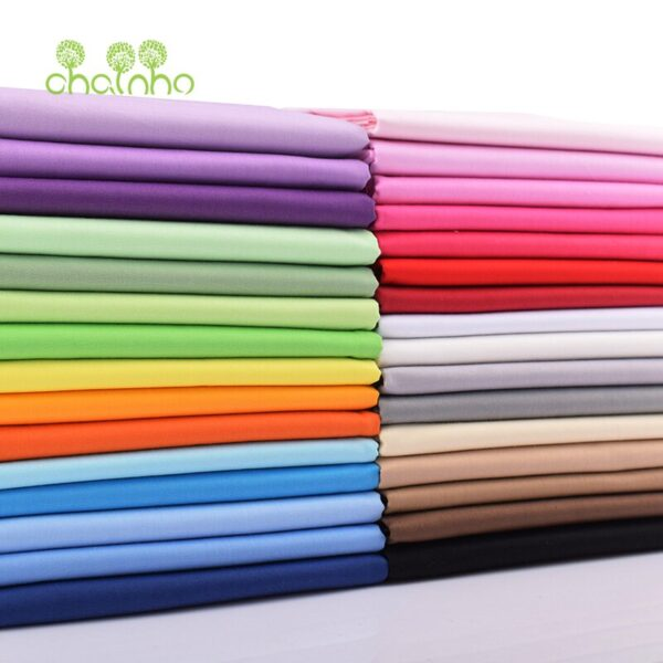 Chainho,32 Solid Color Series,Printed Twill Cotton Fabric,Patchwork Cloth,DIY Sewing&Quilting Material For Baby&Child's Material