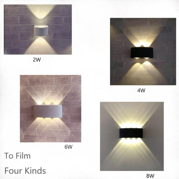 Thicker Nordic Wall Lamp Led Aluminum Outdoor Indoor Ip66 Up Down White Black Modern Home Stairs Bedroom Bedside Bathroom Light
