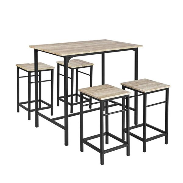 5PCS Dining Room Set 4 Chairs 1 Dining Table Set Wooden Furniture Modern Simple Style Fashion Home Kitchen Furniture HWC