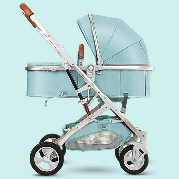 BETSOCCI Baby stroller high landscape 3 in 1 2 in 1 trolley can sit reclining folding shock absorber baby stroller