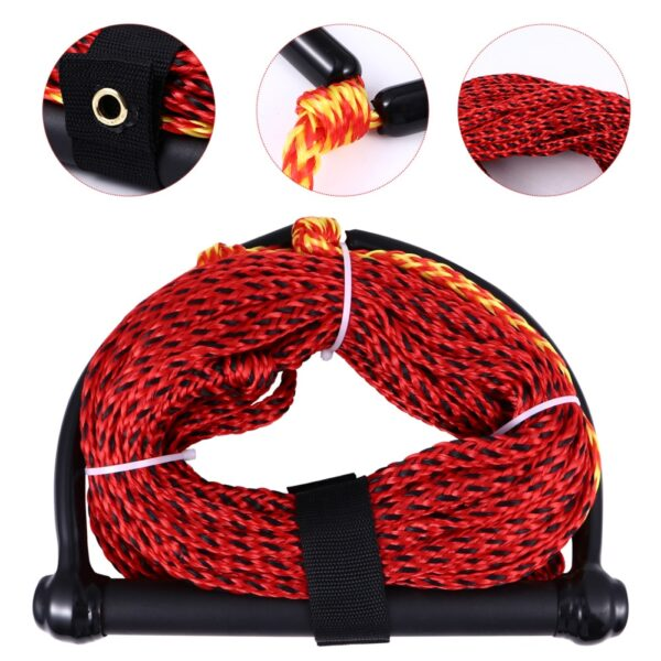 1 pc Watersports Rope 1-Section Towable Black Handle Boating Rope Water Ski Rope Boating Accessories for Kneeboard Wakeboard