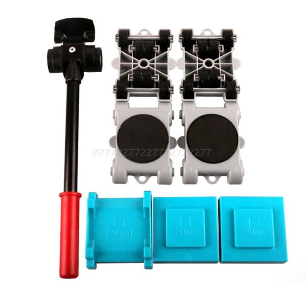 5Pcs/8pcs Furniture Transport Roller Set Removal Lifting Moving Tool Heavy Move House Furniture accessories D12 Dropship