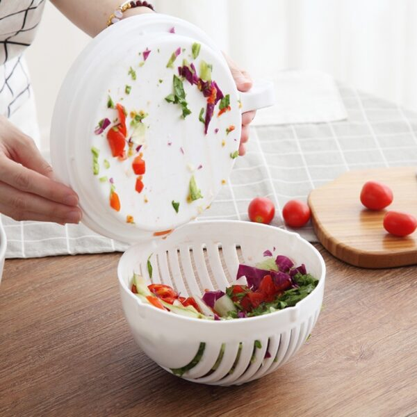 2020 Household fruit salad cutter creative multifunctional fruit and vegetable cutting bowl kitchen accessories gadgets