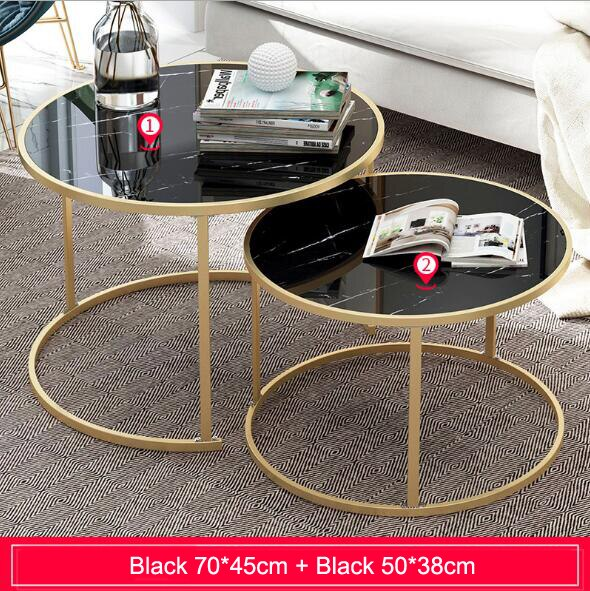 2 in 1 Wooden Coffee Tables Living Room Sofa Beside Round Coffee Tea Table Desk Combination Home Furniture