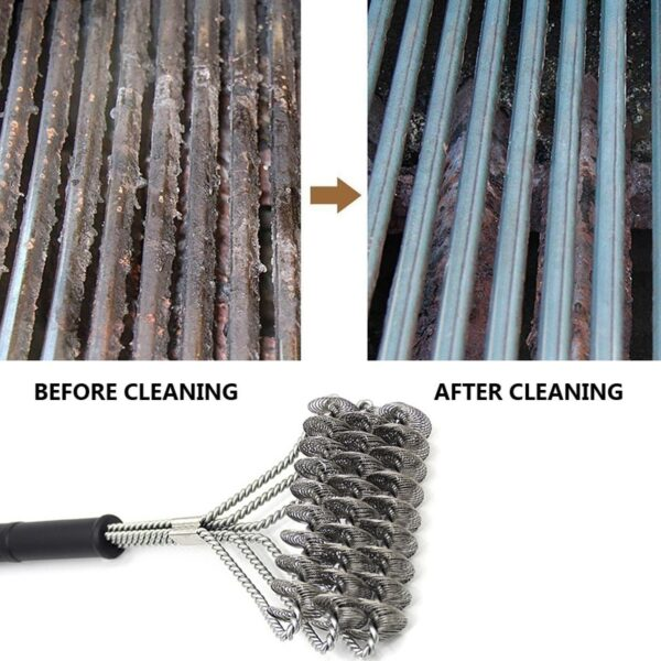 Barbecue Grill BBQ Brush Clean Tool Stainless Steel Wire Bristles Non-stick Cleaning Brushes With Handle Durable Cook Accessorie