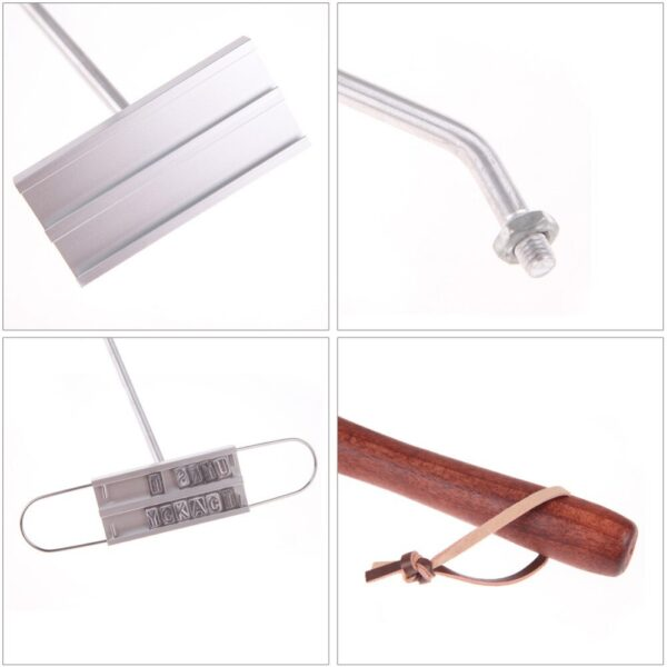 43cm BBQ Branding Iron Tong 55 Letters DIY Barbecue Letter Printed BBQ Steak Tool Meat Grill Forks Barbecue Tool Accessories