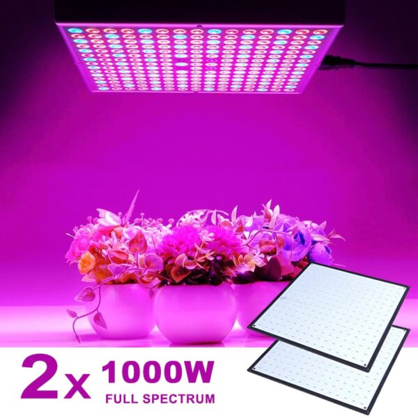 2pcs 1000W Full Spectrum Indoor LED Grow Lamp For Plant Growing Light Tent Fitolampy Phyto UV IR Red Blue 225 Led Flower Seed