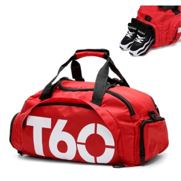 2018 Brand New Men Sport Gym Bag For Women Fitness Waterproof Outdoor Separate Space For Shoes Hide Backpack sac de sport T60