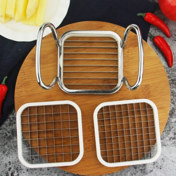 Multifunctional creative 5 In 1 Vegetable Fruit Slicer Cutter Stainless Steel Apple Potato French Fries Kitchen Accessories