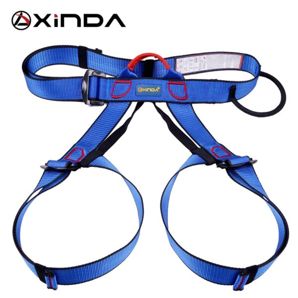 Xinda Professional Outdoor Sports Safety Belt Rock Climbing Outfitting Harness Waist Support Half Body Harness Aerial Survival