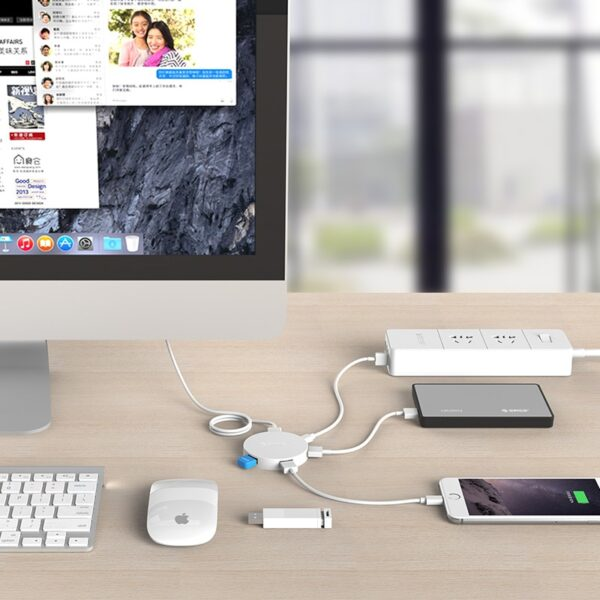 ORICO 4 Ports USB 3.0 HUB With Micro Power Supply Port Support Charging OTG Adapter Splitter for Laptop Computer Accessories