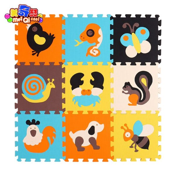 Children's soft developing crawling rugs,baby play puzzle number/letter/cartoon eva foam mat,pad floor for baby games 30*30*1cm