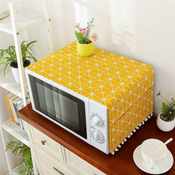 Microwave Cover For Home Kitchen Oven Dust Proof Cover cotton linen electric oven protection Cover towel Kitchen Accessories