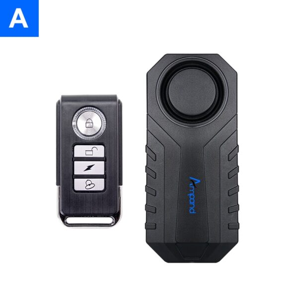 Ampand Waterproof Bike Motorcycle Electric Bicycle Security Anti Lost Wireless Remote Control Vibration Detector Alarm