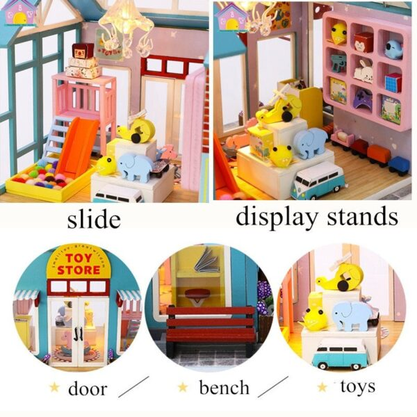 toy store wooden doll house furniture kids diy dollhouse miniatures home house toys for children gifts oyuncak ev casa giocatto