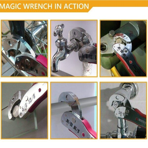 Magic Wrench 9-45mm Adjustable Multi-function Spanner Tools Universal Wrench Pipe Home Hand Tool Plumbers Repair Tools