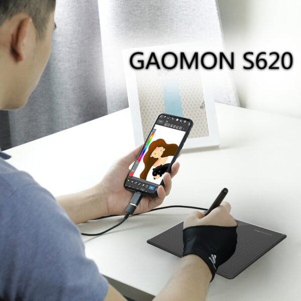 Gaomon S620 6.5x4 Inch Anime Digital Graphic Tablet Art Writing Board for Drawing &Game OSU with 8192 Pressure Battery-Free Pen