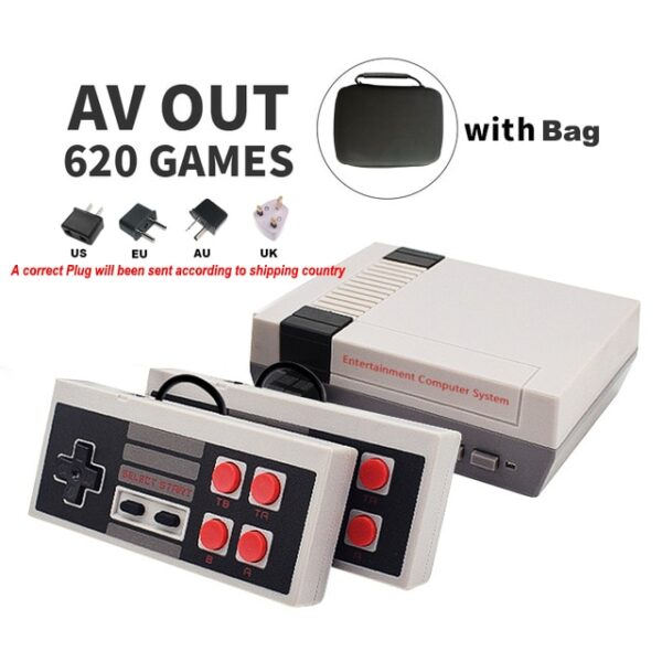 Dropshipping HDMI/AV Output Mini TV Handheld Retro Video Game Console with Classic 500 games Built-in for 4K TV PAL & NTSC