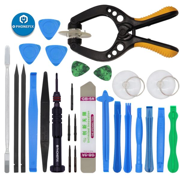 22 IN 1 Mobile Phone Repair Tools Kit Spudger Pry Opening Tool Screwdriver Set for iPhone and Samsung Cell Phone Hand Tools Set