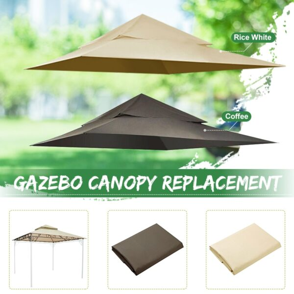 Outdoor Waterproof Gazebo Canopy Top Replacement 2-tier Cover for Madaga Frame High Quality Suitable For Backyard Events