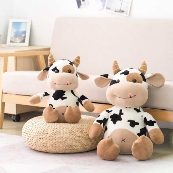 2020 New Plush Cow Toy Cute Cattle Plush Stuffed Animals Cattle Soft Doll Kids Toys Birthday Gift for Children