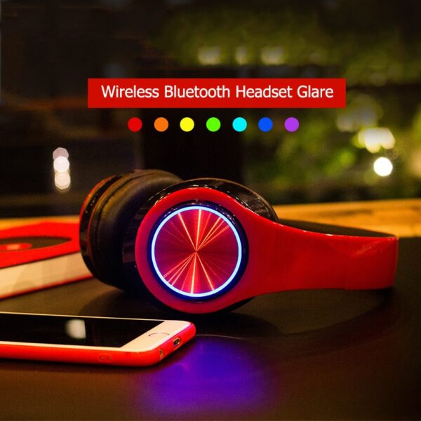 B39 bluetooth headphones wireless Portable Folding Support TF Card Built-in FM mp3 player With LED Colorful Breathing Lights