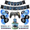 New Fortnite Party Balloons Set Game Theme Birthday Party Supplies Decoration Fortnights Pull Flag Cake Insert Latex Balloon