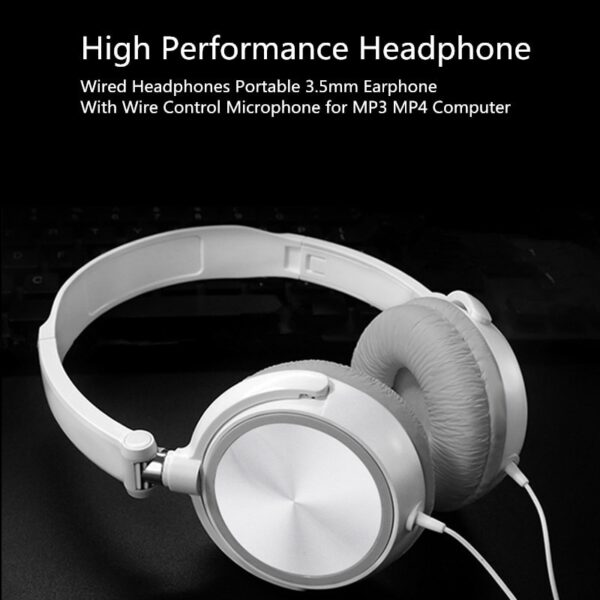 Wired Bass HiFi Sound Headphones With Microphone Over Ear Headsets Music Stereo Earphone For Sony iPhone Xiaomi Huawei PC