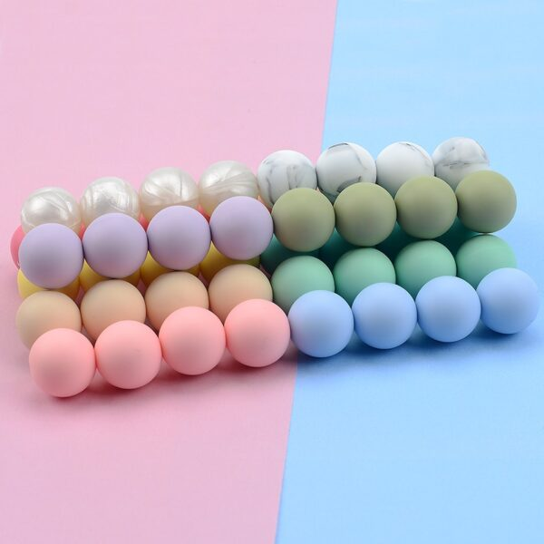 100pieces/lot 12MM Round Shape Silicone Teething Beads For DIY Nursing Necklace Food Grade Chew Beads