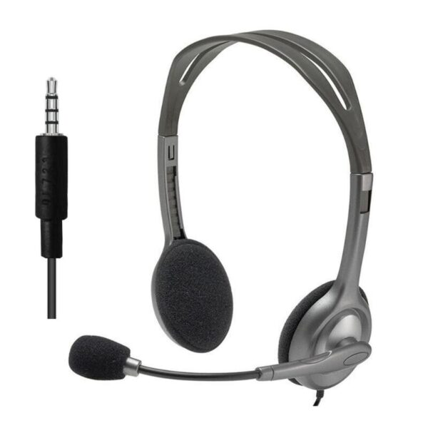 Logitech H110/H111 Stereo Headset with Microphone 3.5mm Wired Headphones Computer Peripheral Accessories